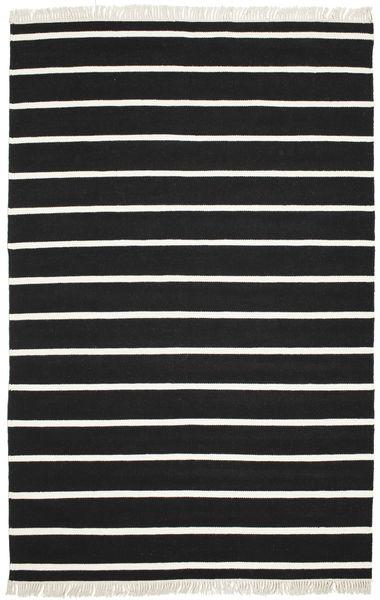 Dorri Stripe - Svart/Vit Teppe 190X290 Ekte Moderne Håndvevd Svart/Beige (Ull, India)