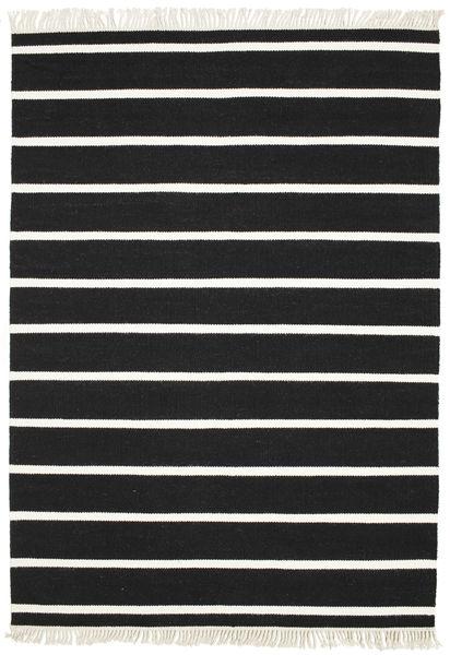 Dorri Stripe - Svart/Vit Teppe 160X230 Ekte Moderne Håndvevd Svart/Beige (Ull, India)