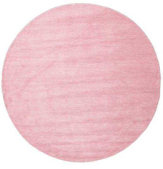 Handloom - Pink Teppe Ø 200 Moderne Rundt Lyserosa/Rosa (Ull, India)