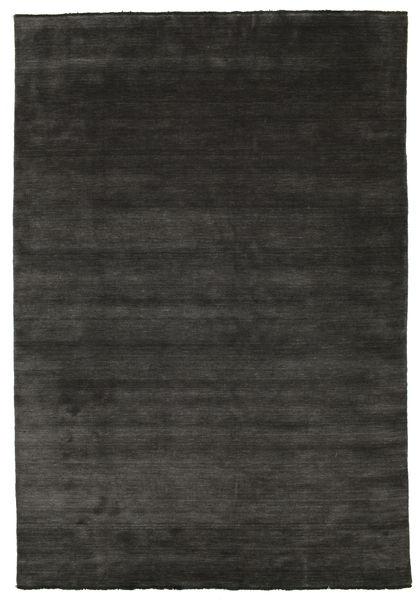 Handloom Fringes - Svart/Grå Teppe 220X320 Moderne Svart/Mørk Grå (Ull, India)