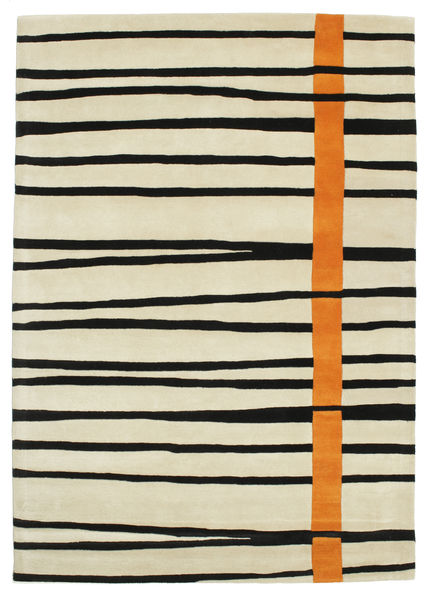 Gummi Twist Handtufted - Oransje Teppe 160X230 Moderne Mørk Beige/Beige/Svart (Ull, India)