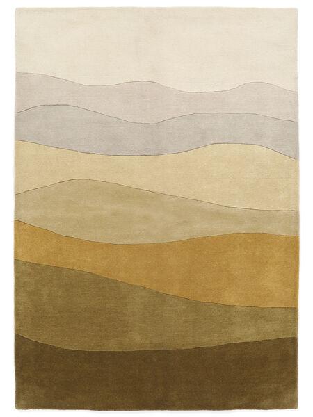 Feeling Handtufted - Brun Teppe 200X300 Moderne Mørk Beige/Olivengrønn (Ull, India)