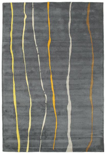 Flaws Handtufted - Grå Teppe 200X300 Moderne Lys Grå/Mørk Grå/Blå (Ull, India)
