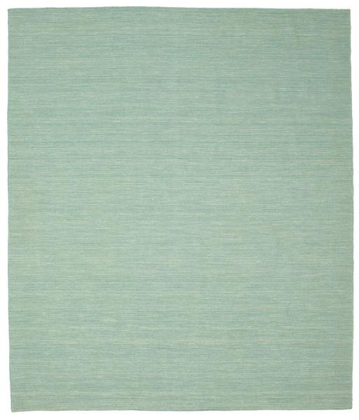 Kelim Loom - Mint Grønn Teppe 250X300 Ekte Moderne Håndvevd Pastell Grønn/Turkis Blå Stort (Ull, India)