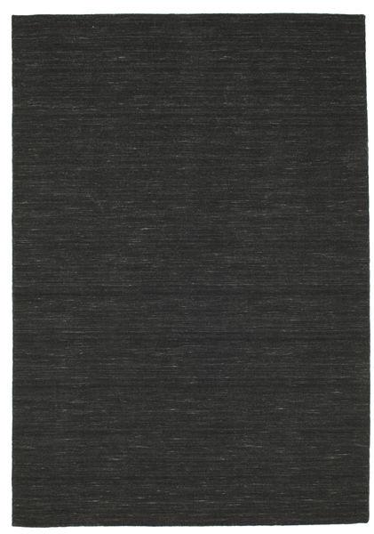 Kelim Loom - Svart Teppe 160X230 Ekte Moderne Håndvevd Svart (Ull, India)