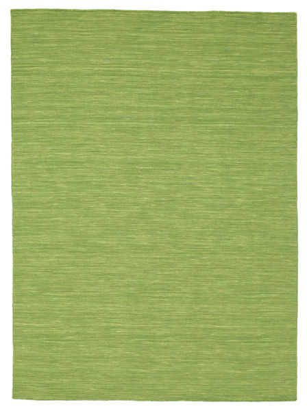 Kelim Loom - Grønn Teppe 160X230 Ekte Moderne Håndvevd Olivengrønn (Ull, India)