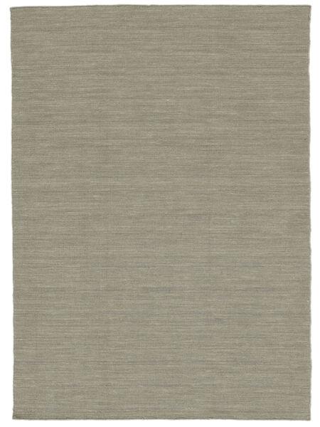 Kelim Loom - Lys Grå/Beige Teppe 160X230 Ekte Moderne Håndvevd Lys Grå (Ull, India)