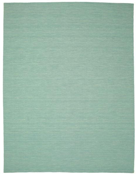 Kelim Loom - Mint Grønn Teppe 300X400 Ekte Moderne Håndvevd Pastell Grønn/Turkis Blå Stort (Ull, India)
