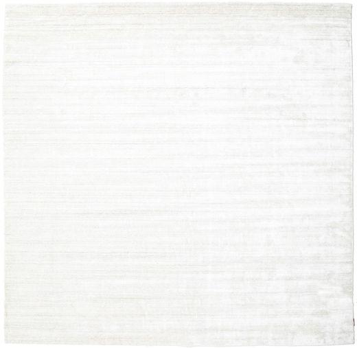 Bamboo Silke Loom - Lys Natural Teppe 250X250 Moderne Kvadratisk Beige/Hvit/Creme Stort ( India)