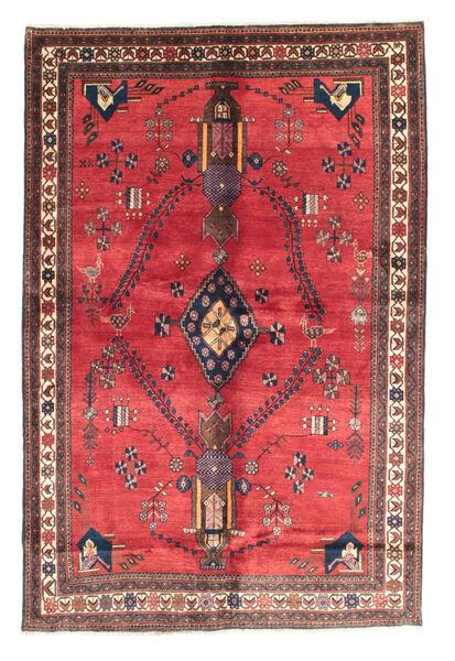 Afshar Teppe 165X247 Ekte Orientalsk Håndknyttet Rød/Mørk Brun (Ull, Persia/Iran)