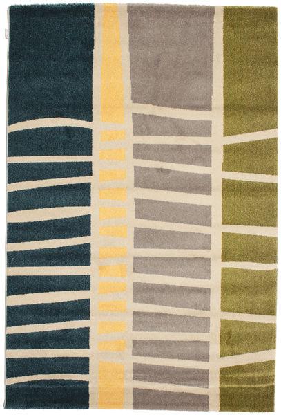 Abstract Bamboo Teppe 160X230 Moderne Mørk Blå/Beige ( Tyrkia)