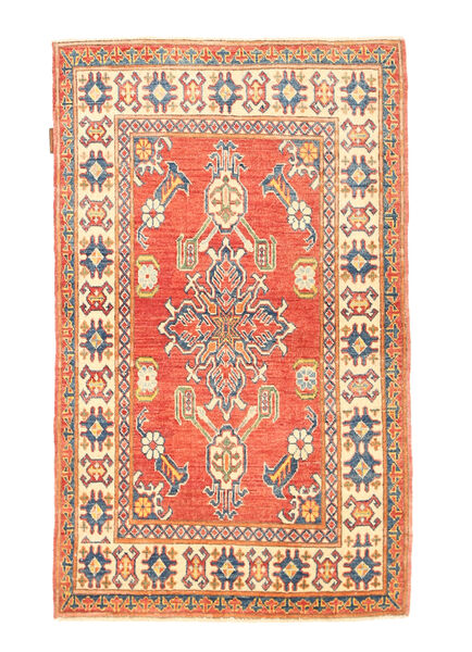 Kazak Teppe 89X144 Ekte Orientalsk Håndknyttet Rød/Beige (Ull, Afghanistan)