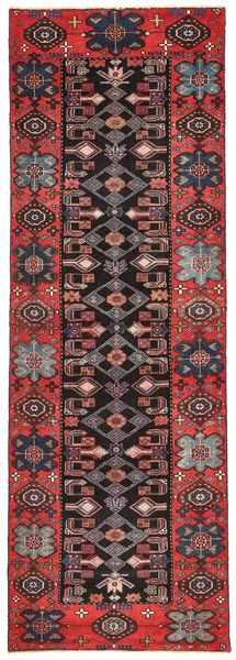 Saveh Patina Teppe 100X303 Ekte Orientalsk Håndknyttet Teppeløpere Mørk Brun/Mørk Rød (Ull, Persia/Iran)