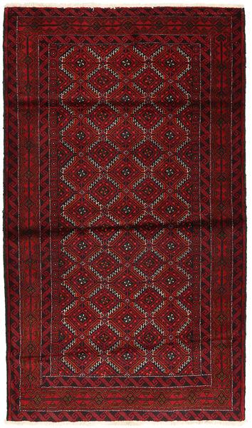 Beluch Teppe 107X186 Ekte Orientalsk Håndknyttet Mørk Rød (Ull, Persia/Iran)