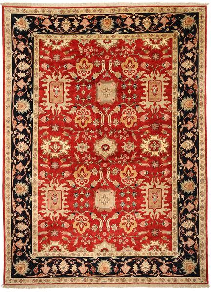 Tabriz Signert: Parvizian Teppe 301X418 Ekte Orientalsk Håndknyttet Rust/Mørk Beige Stort (Ull/Silke, Persia/Iran)