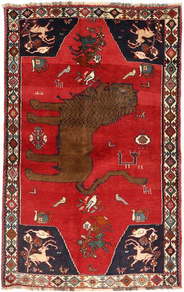 Ghashghai Teppe 129X208 Ekte Orientalsk Håndknyttet Rust/Mørk Rød (Ull, Persia/Iran)