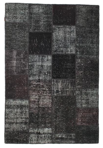 Patchwork Teppe 157X232 Ekte Moderne Håndknyttet Svart/Mørk Grå (Ull, Tyrkia)