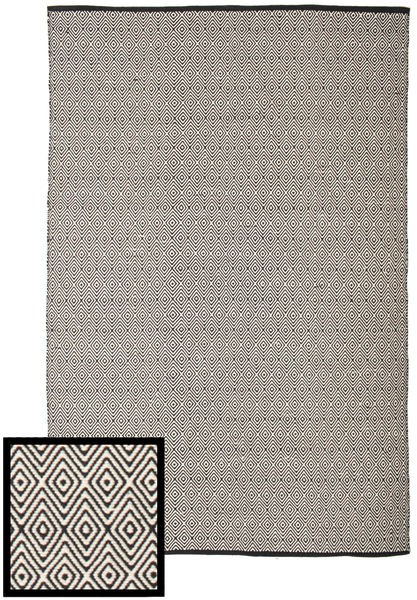 Diamond - Svart/Vit Teppe 200X300 Ekte Moderne Håndvevd Lys Grå/Mørk Grå (Bomull, India)