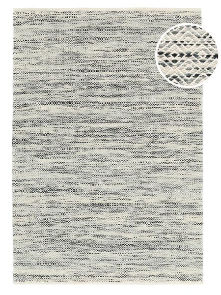Hugo - Svart/Grå Teppe 160X230 Ekte Moderne Håndvevd Lys Grå/Mørk Beige ( India)