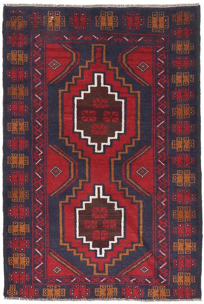 Beluch Teppe 88X130 Ekte Orientalsk Håndknyttet Mørk Grå/Rust (Ull, Afghanistan)