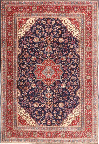 Hamadan Patina Teppe 218X323 Ekte Orientalsk Håndknyttet Mørk Rød/Brun (Ull, Persia/Iran)