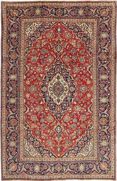 Hamadan Shahrbaf Patina Teppe 195X305 Ekte Orientalsk Håndknyttet Mørk Rød/Brun (Ull, Persia/Iran)