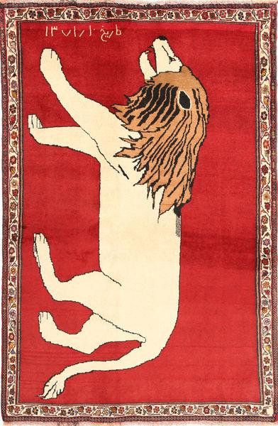 Ghashghai Teppe 131X201 Ekte Orientalsk Håndknyttet Rust/Rød (Ull, Persia/Iran)