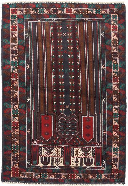 Beluch Teppe 86X132 Ekte Orientalsk Håndknyttet Mørk Lilla/Mørk Brun (Ull, Afghanistan)