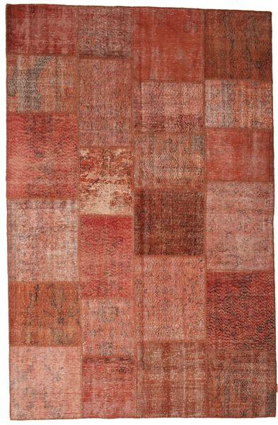 Patchwork Teppe 197X302 Ekte Moderne Håndknyttet Rød/Mørk Rød (Ull, Tyrkia)
