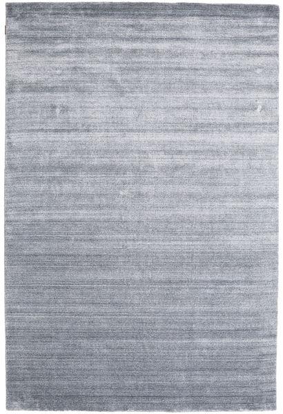 Bamboo Silke Loom - Denim Blå Teppe 200X300 Moderne Lys Grå/Lys Blå ( India)