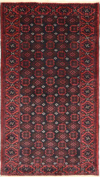 Beluch Teppe 105X190 Ekte Orientalsk Håndknyttet Mørk Brun/Mørk Rød (Ull, Persia/Iran)
