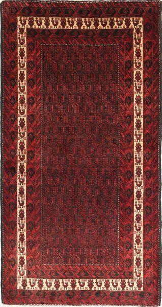 Beluch Teppe 105X205 Ekte Orientalsk Håndknyttet Mørk Rød/Mørk Brun (Ull, Persia/Iran)