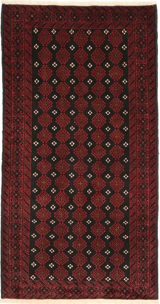 Beluch Teppe 105X200 Ekte Orientalsk Håndknyttet Mørk Rød/Mørk Brun (Ull, Persia/Iran)