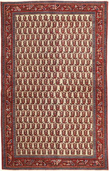 Arak Patina Teppe 130X210 Ekte Orientalsk Håndknyttet Mørk Rød/Mørk Brun (Ull, Persia/Iran)