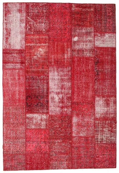 Patchwork Teppe 203X301 Ekte Moderne Håndknyttet Rød/Rust (Ull, Tyrkia)