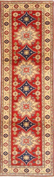 Kazak Teppe 82X293 Ekte Orientalsk Håndknyttet Teppeløpere Lysbrun/Rust (Ull, Pakistan)