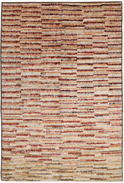 Barchi/Moroccan Berber Teppe 189X291 Ekte Moderne Håndknyttet Mørk Brun/Mørk Rød (Ull, Afghanistan)
