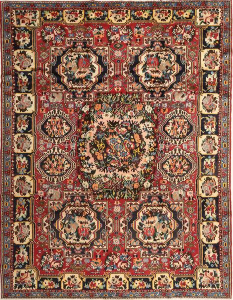 Bakhtiar Teppe 263X336 Ekte Orientalsk Håndknyttet Mørk Brun/Mørk Rød Stort (Ull, Persia/Iran)