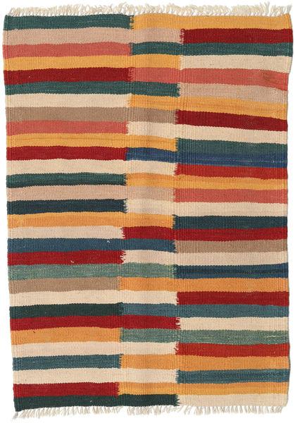 Kelim Teppe 68X96 Ekte Orientalsk Håndvevd Lysbrun/Blå (Ull, Persia/Iran)
