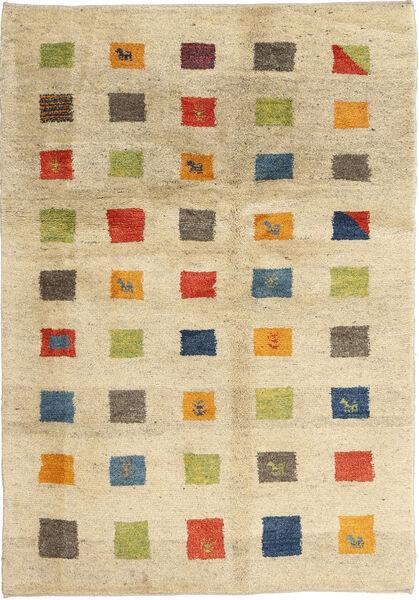 Gabbeh Persia Teppe 125X184 Ekte Moderne Håndknyttet Beige/Mørk Beige (Ull, Persia/Iran)
