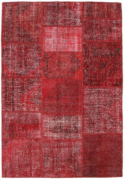 Patchwork Teppe 159X231 Ekte Moderne Håndknyttet Mørk Rød/Rød (Ull, Tyrkia)