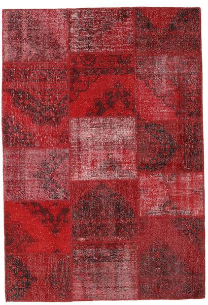 Patchwork Teppe 158X231 Ekte Moderne Håndknyttet Mørk Rød/Rød (Ull, Tyrkia)