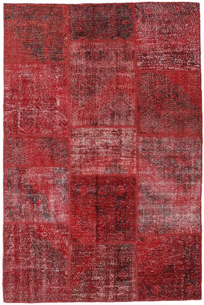 Patchwork Teppe 155X234 Ekte Moderne Håndknyttet Mørk Rød/Rød (Ull, Tyrkia)