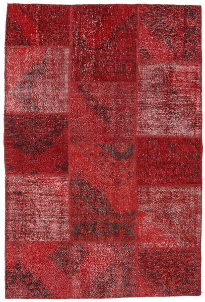 Patchwork Teppe 157X234 Ekte Moderne Håndknyttet Mørk Rød/Rød (Ull, Tyrkia)
