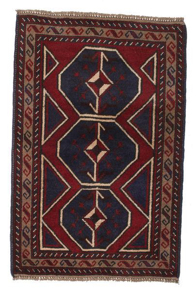 Beluch Teppe 86X132 Ekte Orientalsk Håndknyttet Mørk Brun/Mørk Rød (Ull, Afghanistan)