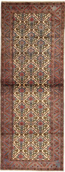 Hamadan Teppe 103X280 Ekte Orientalsk Håndknyttet Teppeløpere Mørk Brun/Lysbrun (Ull, Persia/Iran)