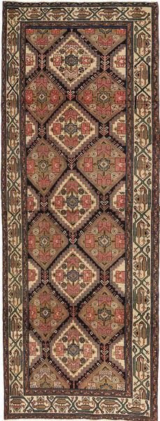 Hamadan Patina Teppe 105X285 Ekte Orientalsk Håndknyttet Teppeløpere Brun/Mørk Grå (Ull, Persia/Iran)