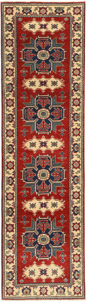 Kazak Teppe 78X290 Ekte Orientalsk Håndknyttet Teppeløpere Mørk Rød/Mørk Brun (Ull, Pakistan)