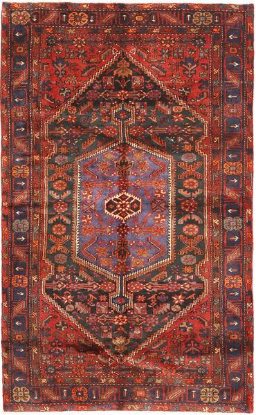 Hamadan Teppe 154X254 Ekte Orientalsk Håndknyttet Mørk Rød/Mørk Grå (Ull, Persia/Iran)