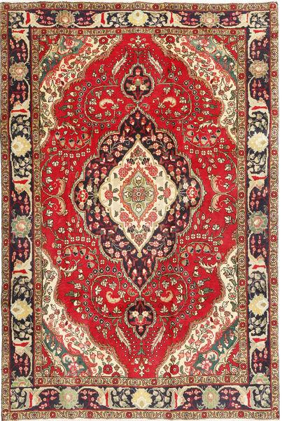 Tabriz Teppe 200X298 Ekte Orientalsk Håndknyttet Mørk Rød/Mørk Brun (Ull, Persia/Iran)